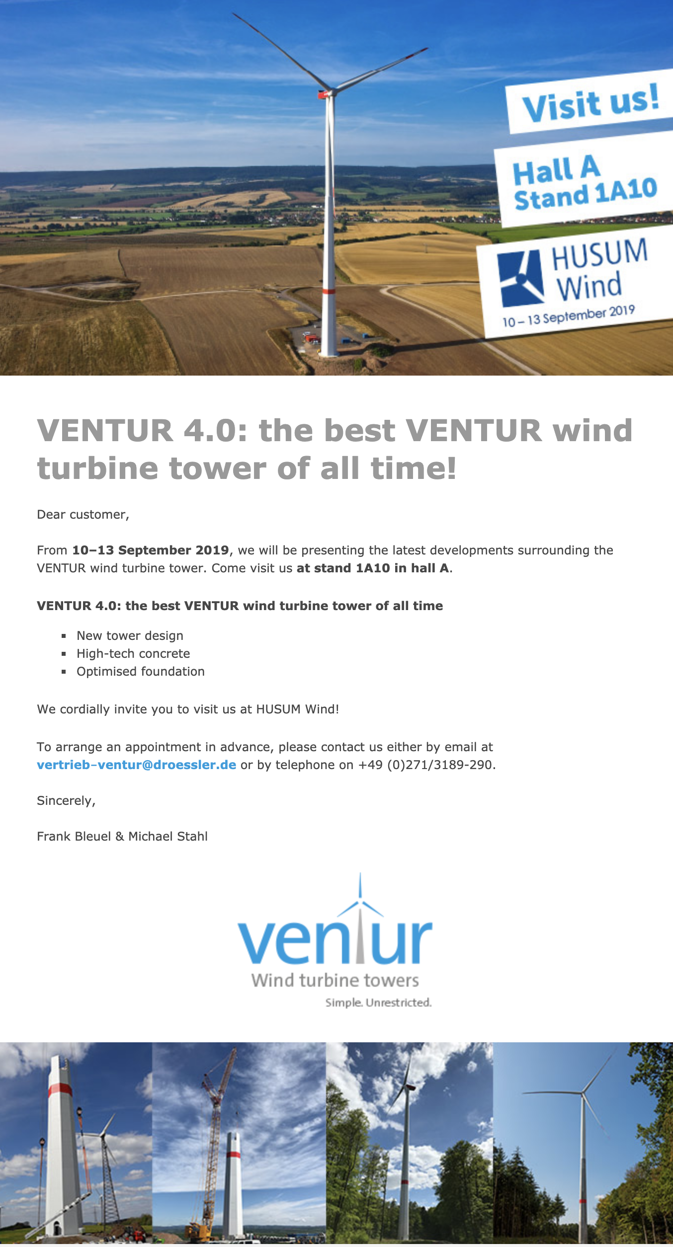 Newsletter HUSUM Wind 2019